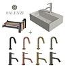 Salenzi Salenzi Fonteinset Spy 40x30 cm Mat Grijs (Keuze uit 8 kranen in 4 kleuren)