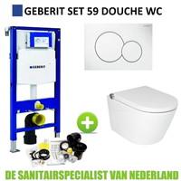Geberit UP320 Toiletset Set59 Douche WC RapoWash met Sigma Drukplaat