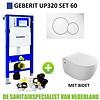 Geberit Geberit UP320 Toiletset Set60 Bidet Wandcloset Isvea Sentiment met Sigma Drukplaat