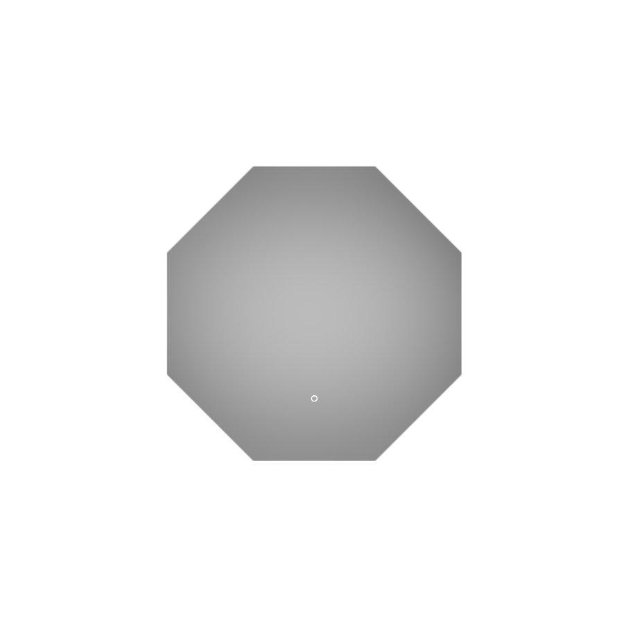 Badkamerspiegel Martens Design Stockholm Hexagon 80 cm met Verlichting en Touch Schakelaar