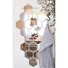 Martens Design Badkamerspiegel Martens Design Hexagon 3D 20 cm Brons- of Zilverkleurig met Facet