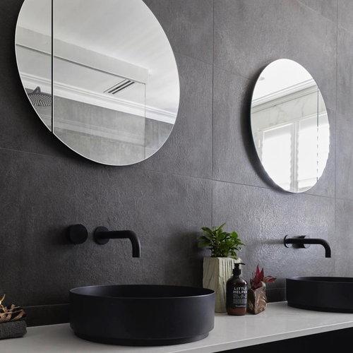 Badkamerspiegel Rond Martens Design Calvo op Aluminium Frame (alle maten)