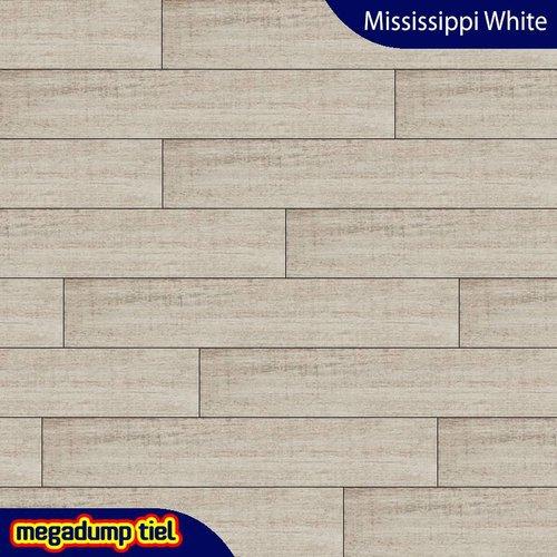 Houtlook Vloertegel Mississippi White 20X114 P/M²