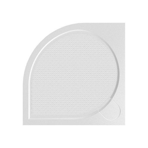Douchebak Marmer Sapho Arca 80x80x3 cm Kwartrond Wit