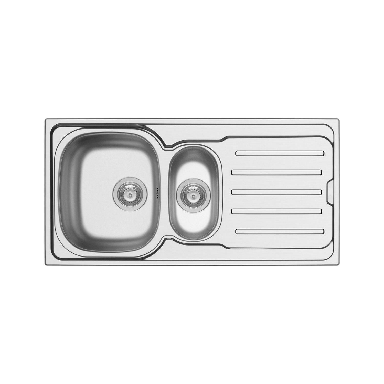 Spoelbak Uitstortgootsteen Van Marcke Callisto 100x50 cm RVS Go by Van Marcke