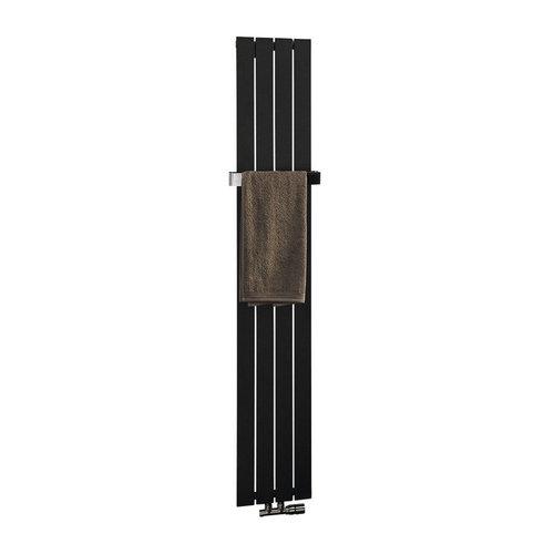 Designradiator Sapho Colonna Recht Middenaansluiting 29.8x180 cm 614W Antraciet