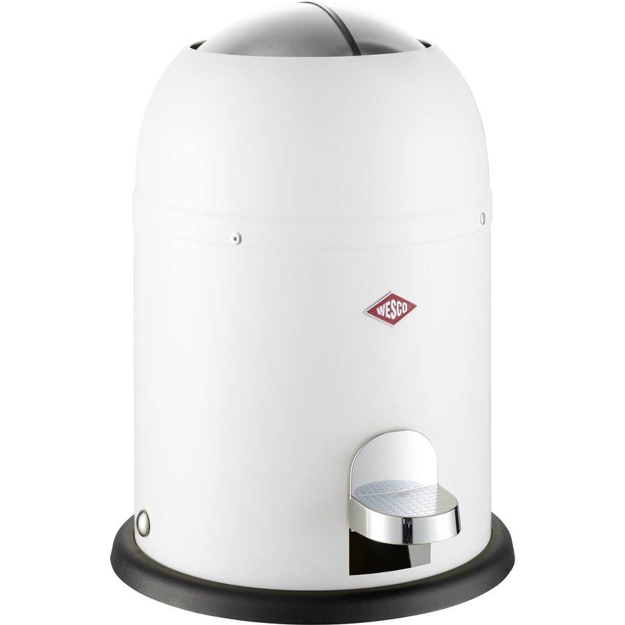 Afvalemmer Wesco Mini Master 6 Liter Mat Wit