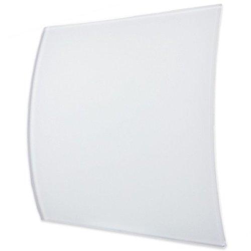 Ventilatierooster Design BWS Ventilatie Vierkant 10cm Gebogen Glas Mat Wit