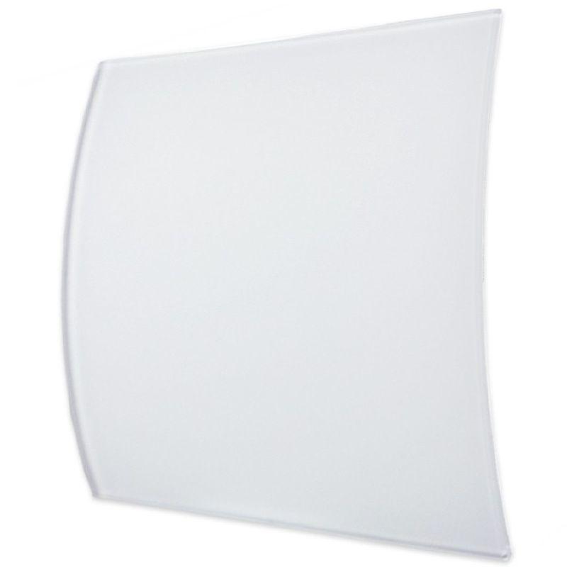 Ventilatierooster Design BWS Ventilatie Vierkant 10 cm Gebogen Glas Mat Wit Aqua Splash