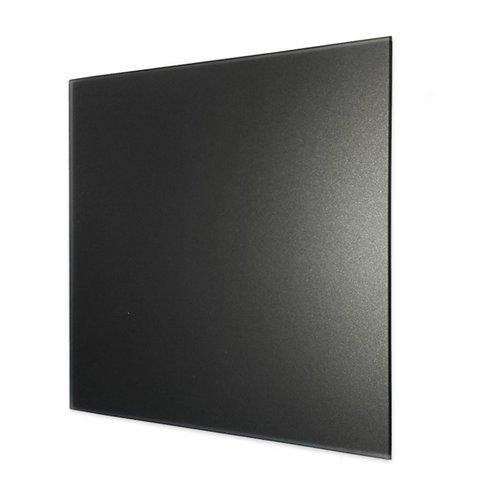Ventilatierooster Design BWS Ventilatie Vierkant 10cm Vlak Glas Mat Zwart