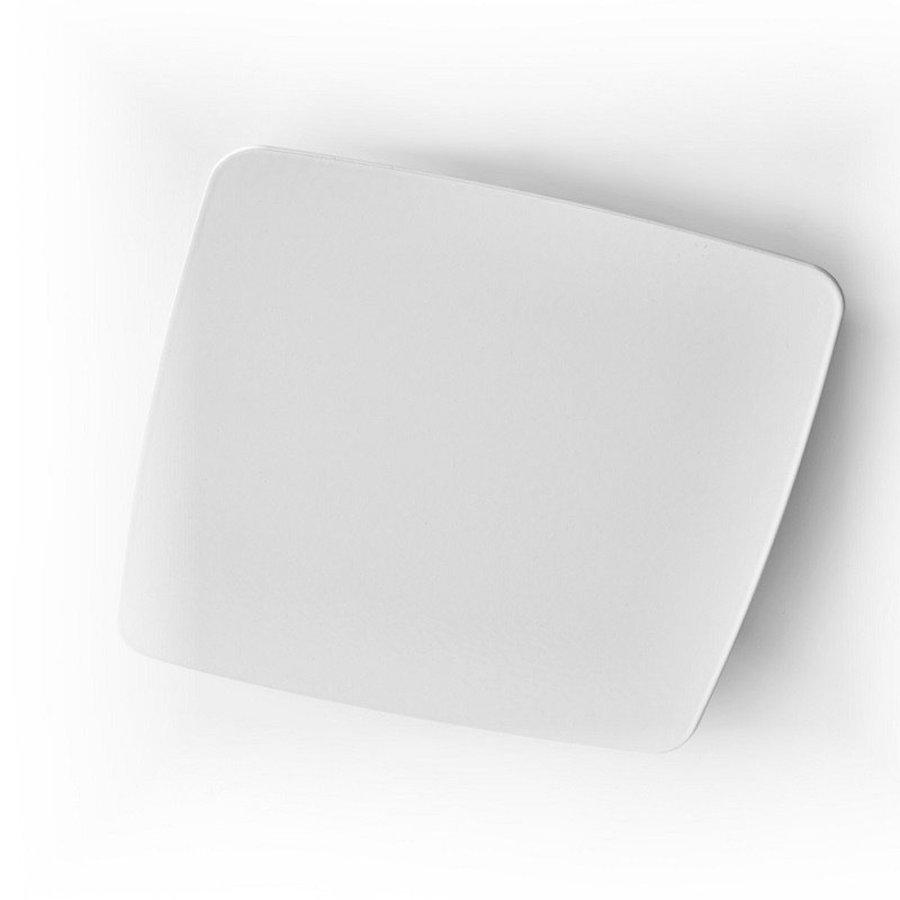 Afvoerventiel Design BWS Ventilatie Afgerond Vierkant 12.5cm Groot Wit