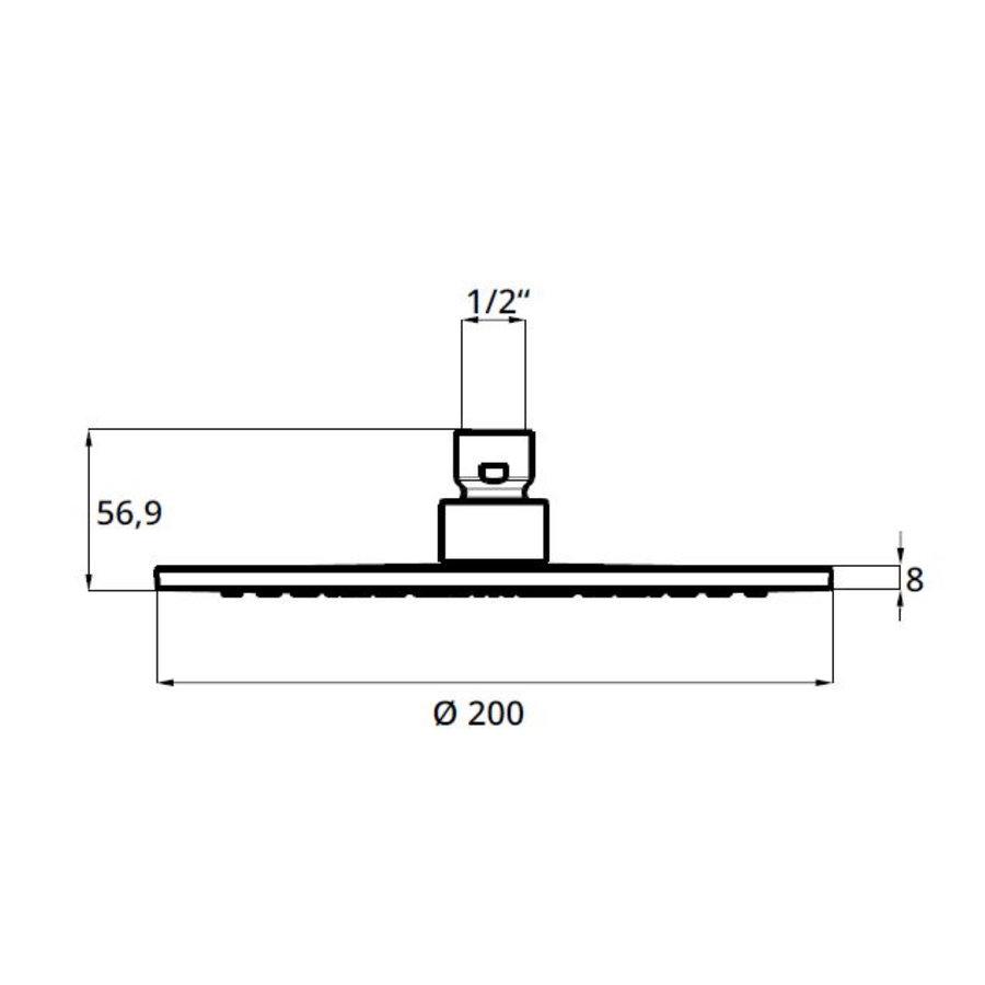 Hoofddouche voor Regendouche Herzbach Living Spa Rond 20 cm 1/2'' Chroom