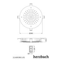 Hoofddouche met LED-Verlichting Herzbach Living Spa Gepolijst Chroom