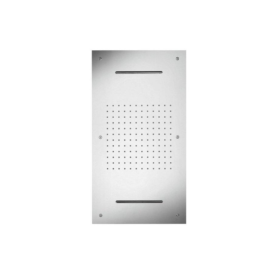 Hoofddouche met Kleur LED-Verlichting Herzbach Living Spa Chroom (twee standen)