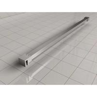 AQS Vrijstaande Inloopdouche Pro Line Helder Glas met Twee Stabilisatiestangen RVS Geborsteld (13 varianten)