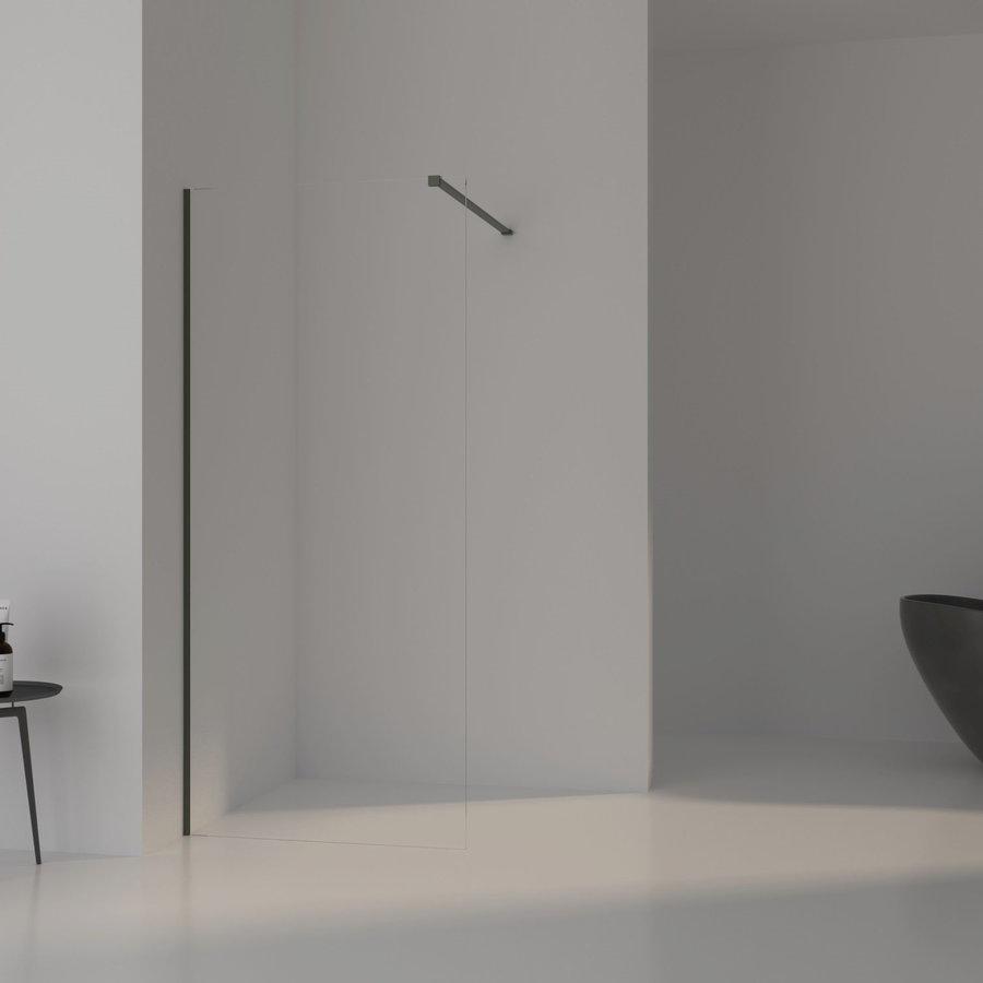 AQS Inloopdouche Pro Line Helder Glas Mat Groen Profiel en Stang (13 varianten)