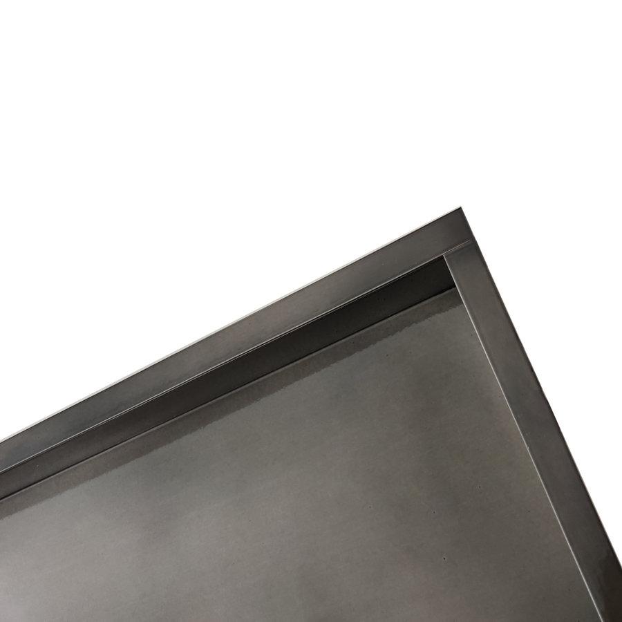 Inbouwnis Wiesbaden 30x60x7 cm RVS Black Chrome