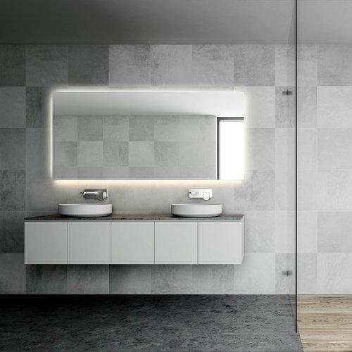 Badkamerspiegel Martens Design Dublin met Verlichting Rondom en Verwarming (alle maten)