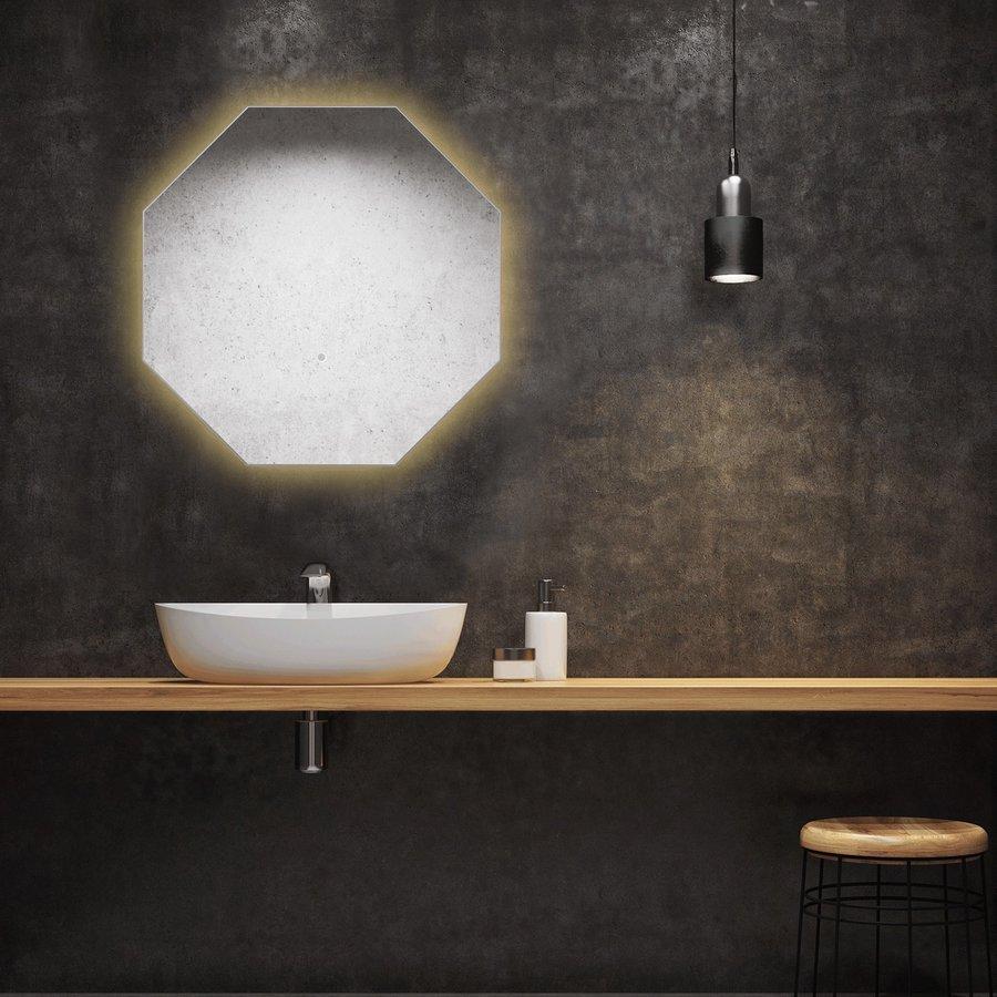 Badkamerspiegel Martens Design Stockholm Hexagon met Indirecte Verlichting Rondom (alle maten)