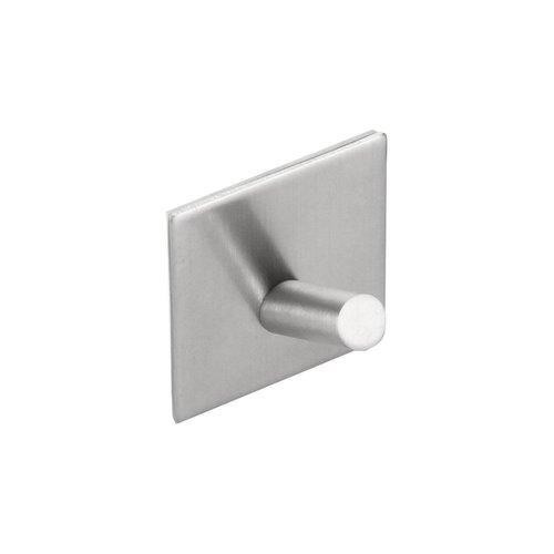 Handdoekhaak Sapho 4.4x4.4 cm Zelfklevend Vierkant Geborsteld RVS