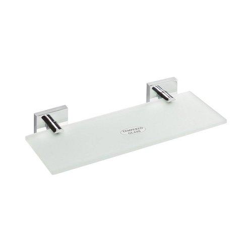 Glazen Planchet Sapho X-Square 30x5.5 cm Chroom