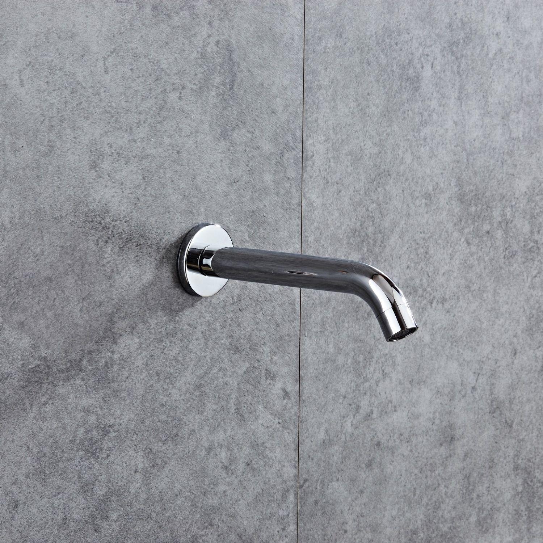 Baduitloop Boss & Wessing Talpa 21 cm Messing Chroom Aqua Splash