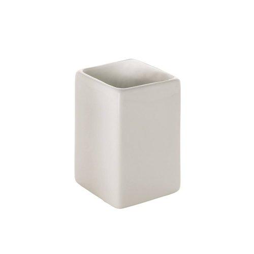 Tandenborstelhouder Sapho Verbena Vrijstaand 10x6.5 cm Keramiek Wit