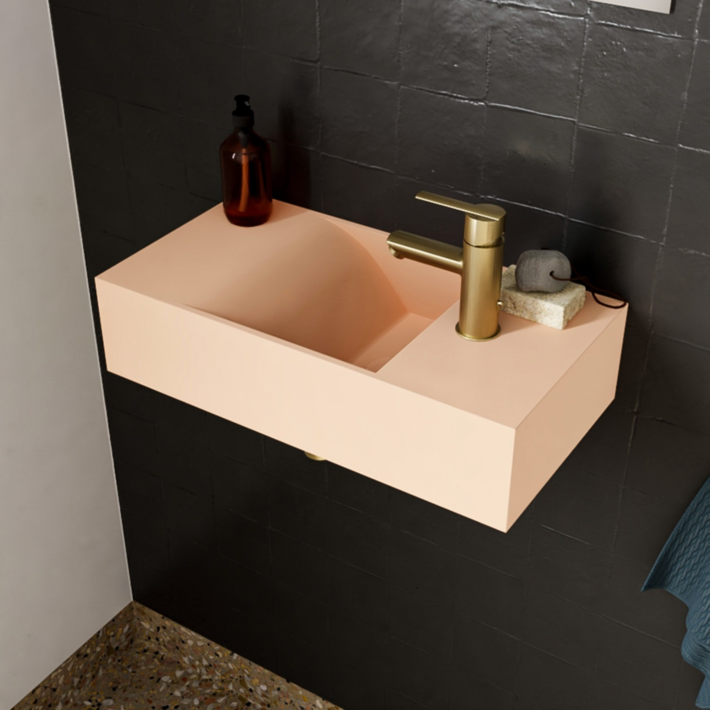 Salenzi Fontein Arro 50x26 cm Mat Roze Rechts