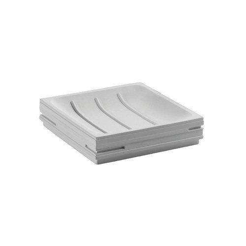 Zeephouder Sapho Quadrotto Vrijstaand 11.7x2.7 cm Polyresin Wit