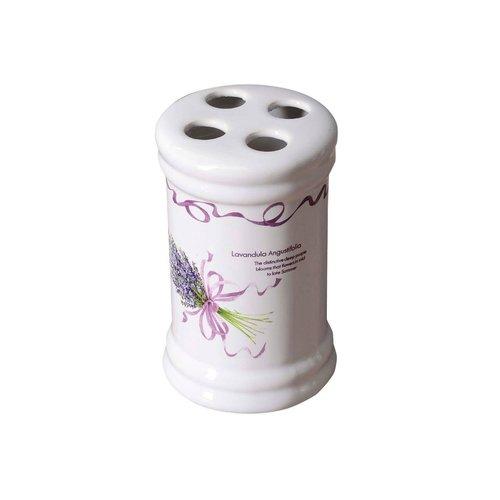 Tandenborstelhouder Sapho Lavender Vrijstaand 12x7.2 cm Keramiek Wit