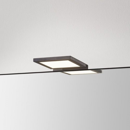 Spiegellamp Boss & Wessing Square 10x10 cm Aluminium Mat Zwart