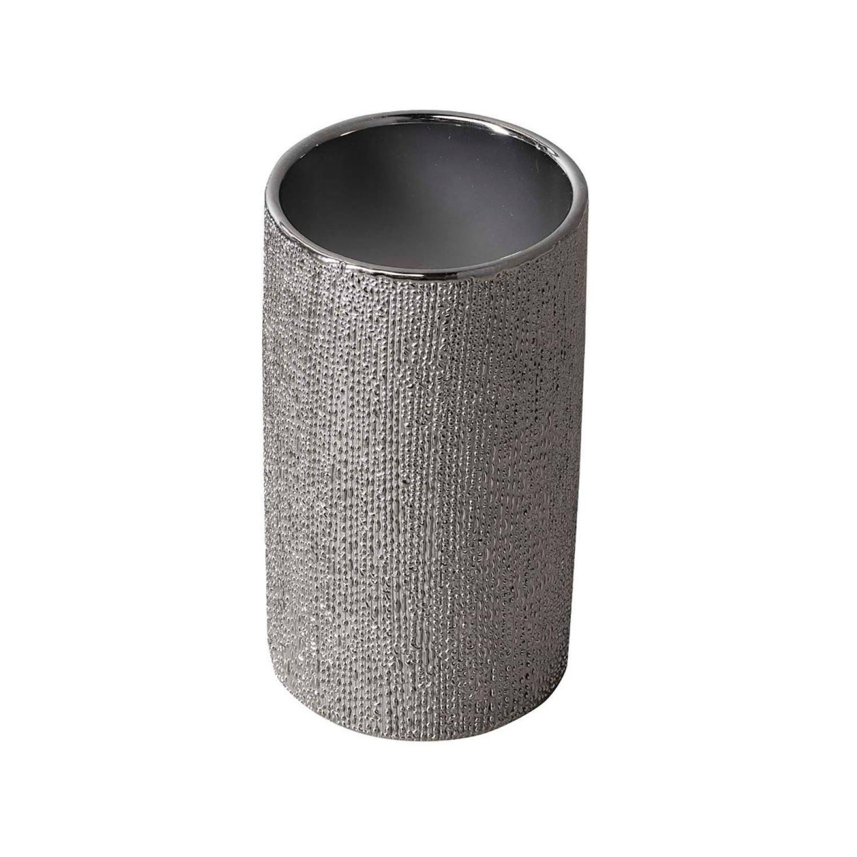 Tandenborstelhouder Sapho Nice Vrijstaand 11.5x6.3x6.3 cm Keramiek Zilver Sapho