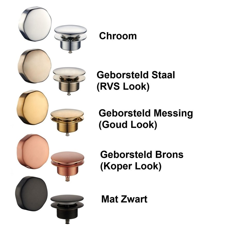 Badafvoer met Overloopcombinatie Wiesbaden (keuze uit 5 kleuren)