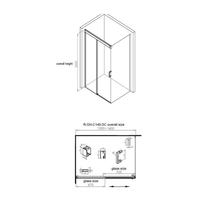 Douchecabine Aqua Splash Cuadro 130 cm Soft-Close Anti-Kalk Coating Chroom (zes varianten)
