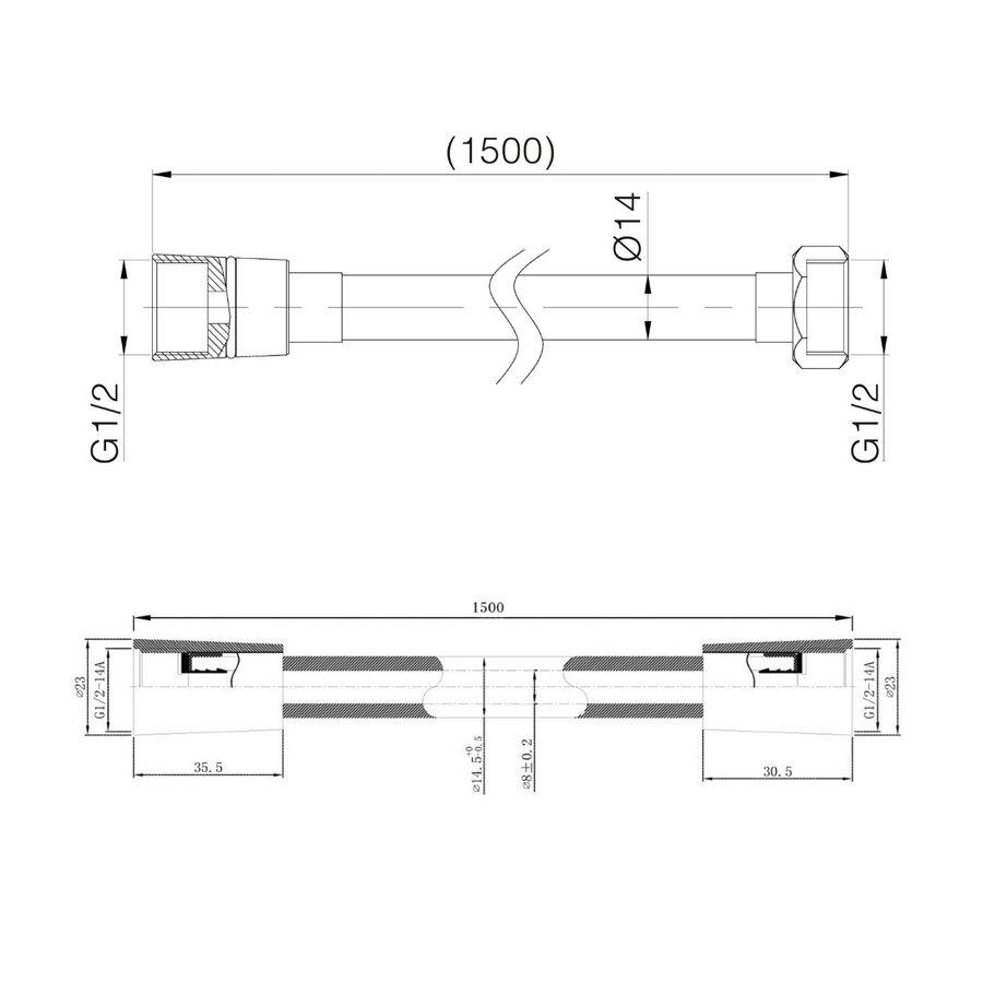 Inbouw Regendouche Set Klik 2-Wegs Chroom (Plafonduitloop)