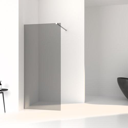 Inloopdouche Aqua Splash Slim Rookglas Anti-Kalk Coating Mat Geborsteld Staal Profiel (zes varianten)