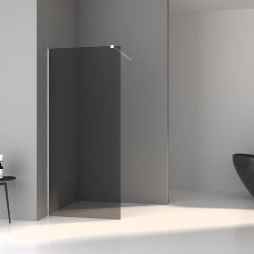 Inloopdouche Aqua Splash Slim Rookglas Anti-Kalk Coating Mat Wit Profiel (zes varianten)