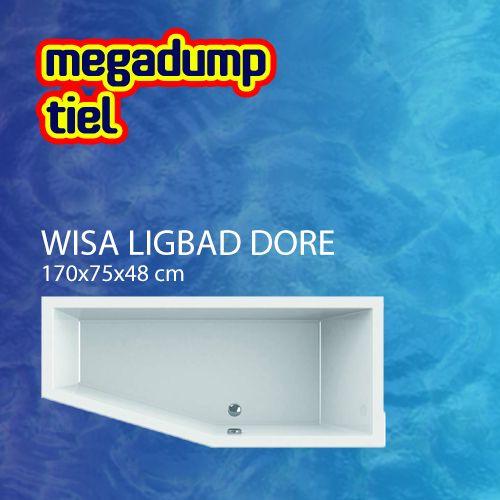Wavedesign Ligbad Dore 170X75X48 cm Mat Zwart - 170x75x48 cm Links Mat Zwart