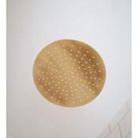 Regendoucheset Inbouw Salenzi Giro Gegalvaniseerd Geborsteld Messing Goud 30 cm