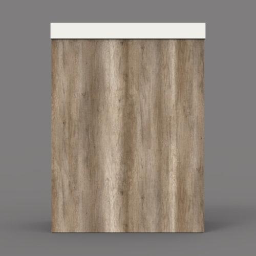 Fonteinkast BWS Canyon Oak met Marble Fontein Mat Wit