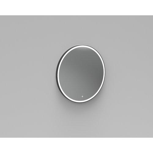 Badkamerspiegel Rond LED Verlichting Boss & Wessing Reflect 100 cm Mat Zwart