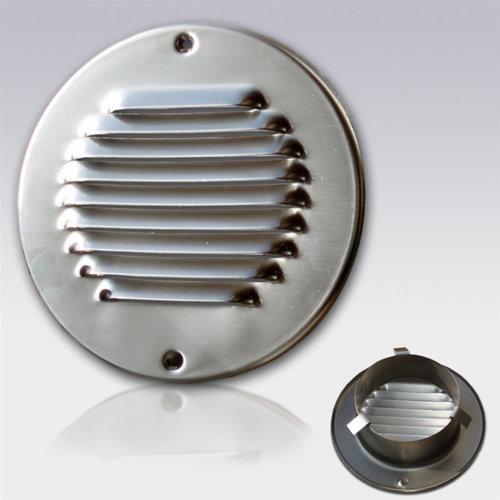 Schoepen Ventilatierooster met Klemveren Weha Rond 10 cm RVS