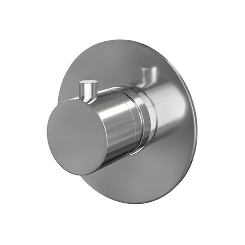 Inbouw Thermostaat Brauer Rond Messing Chroom