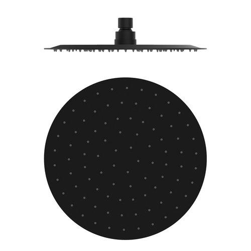 Hoofddouche Rond GRB InCool ⌀25 cm Anti-Kalk Laag Zwart