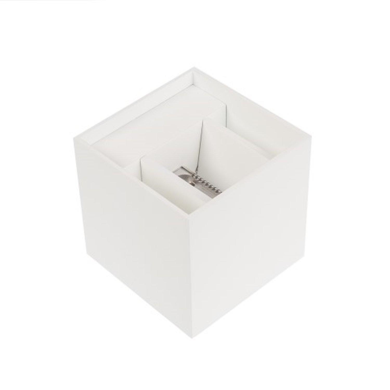 Wandlamp met LED-Verlichting NJOY Cube Wit 6 Watt Aqua Splash
