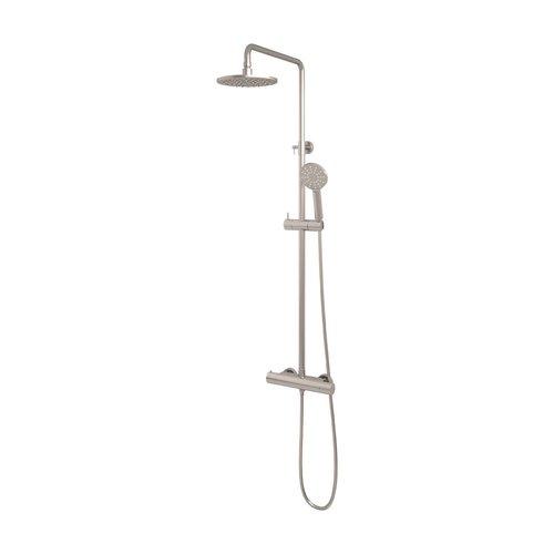 Regendouche Brauer Brushed Showerpipe Met Thermostaat 20cm 3 Standen Geborsteld Nikkel