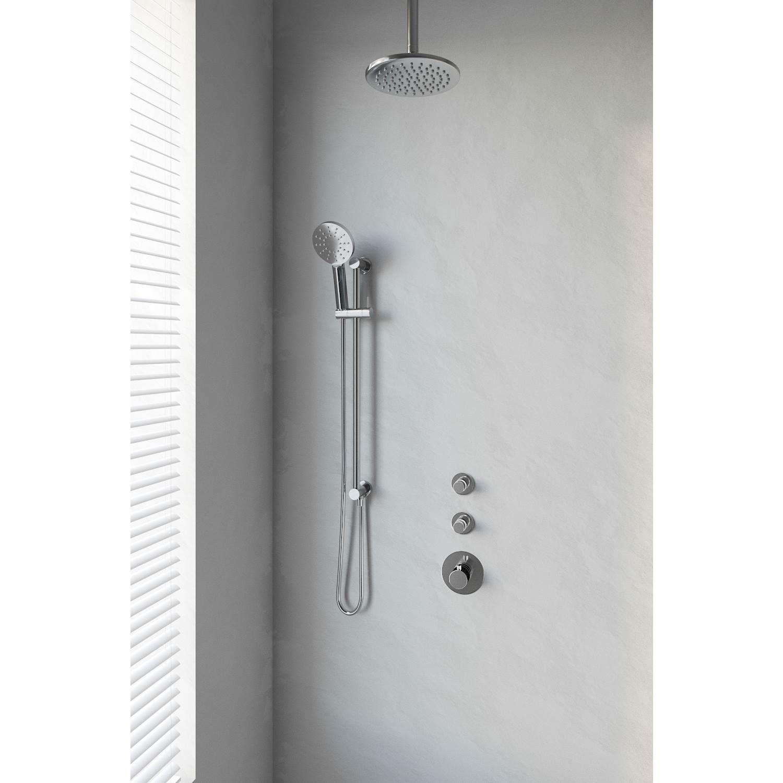 Thermostatisch Inbouwdoucheset Brauer Chrome 20 cm Hoofddouche Plafondarm 3 Standen Handdouche op Gl