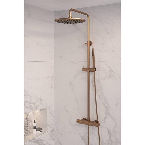 Regendouche Brauer Copper Showerpipe met Thermostaat 30cm Koper