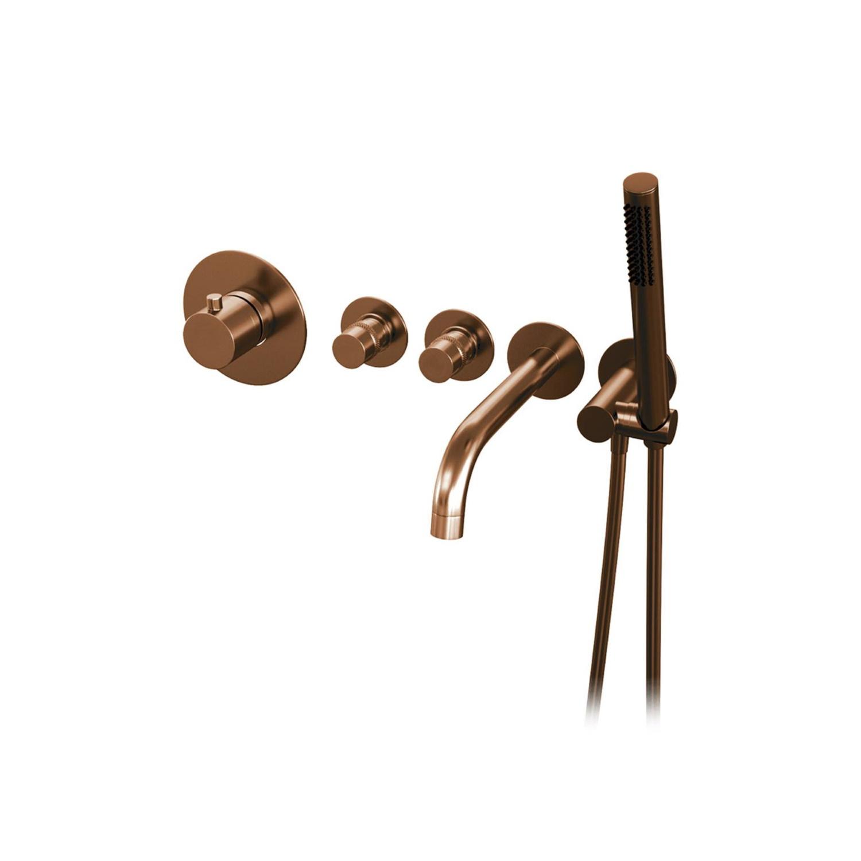 Inbouwthermostaatset Brauer Copper Incl Baduitloop en Staafhanddouche Koper Brauer