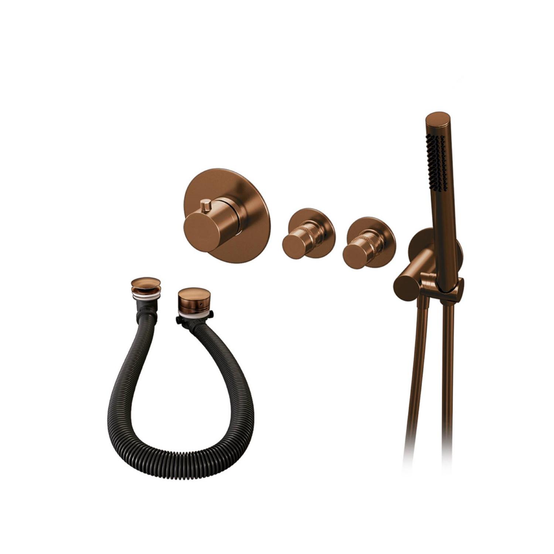 Inbouwthermostaatset Brauer Copper Incl Staafhanddouche En Badafvoer Koper Brauer